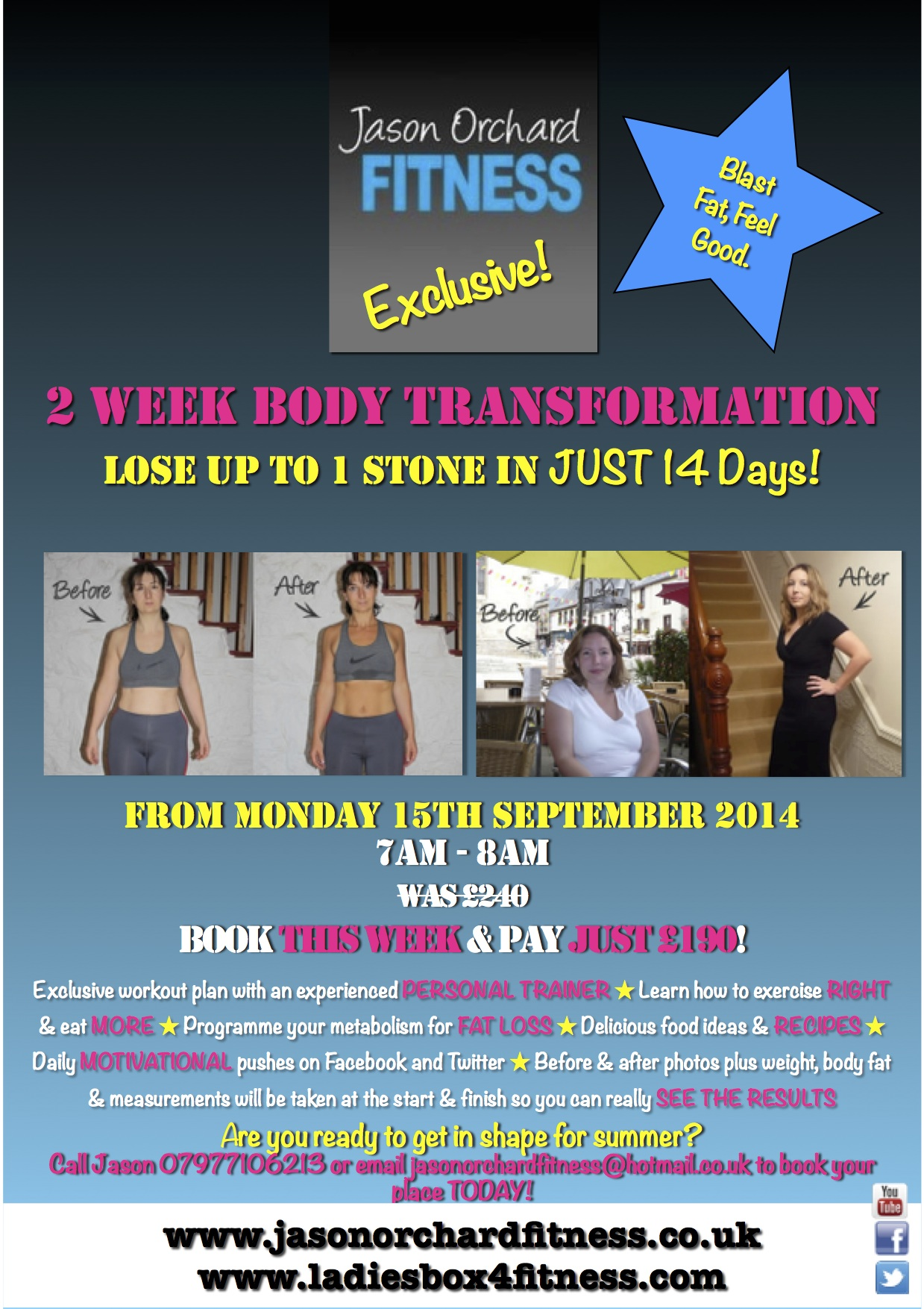 2 Week Body Transformation. Jason Orchard 10 Day Summer Belly Bootcamp May  2014 copy